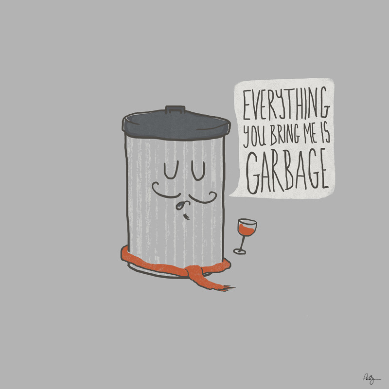 phildesignart:  French Trash Can by Phil Jones