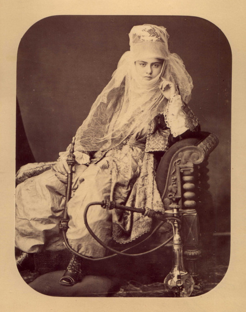 realityayslum:  J. Pascal Sebah - Young Woman with a Hookah, c.1870. … via 19th Century Photographic Images (flickr)