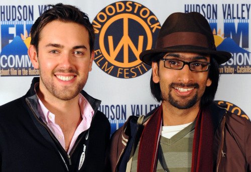 Paul Young and Kaushik Bhattacharya with The Glowing Hours at Woodstock Film Festival www.theglowinghours.com   www.facebook.com/theglowinghours