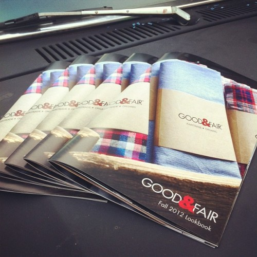 Our Fall 2012 Lookbooks are here! Email us at info@goodandfairclothing.com to get one! #fairtrade #fashion #organic