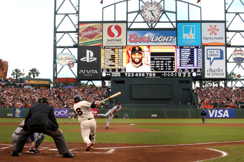 siphotos:  Pablo Sandoval hits a solo home run off Justin Verlander during the opening game of the World Series on Wednesday. Sandoval hit three home runs as the Giants rolled to an 8-3 victory. (Ezra Shaw/Getty Images) VERDUCCI: Sandoval carves a piece of World Series historyLEMIRE: Zito's craftiness bests power of Verlander
