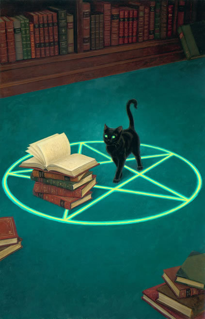 Magic and reading / Magia y lectura (ilustración de Ryan Wood)
