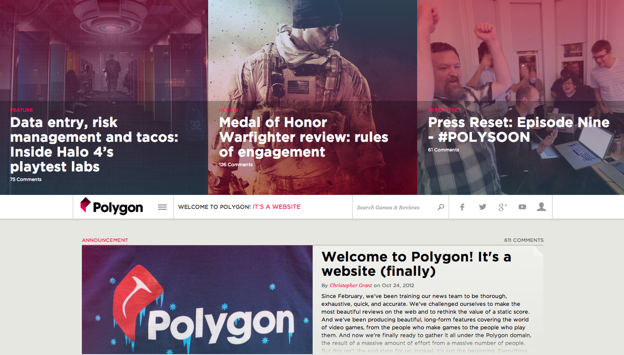 Polygon launches So Polygon has finally launched and I must say it's looking pretty awesome.