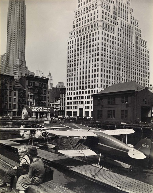 Downtown skyport, foot of Wall Street, 1936 from series Changing New York Berenice Abbott