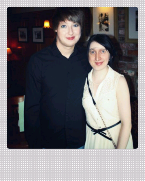 We've been together one year today! :D   Yes I used face swap, were not hideous in real life.  I ended up looking like a Native American Grandma and Ste looks like a doll. Best 75p I've ever spent