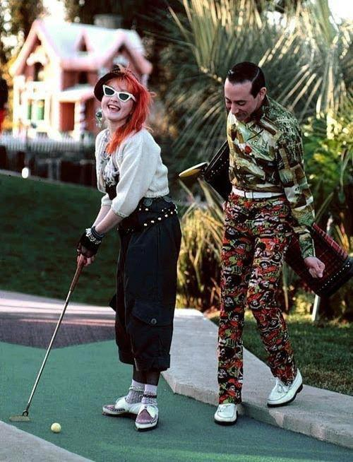 Cyndi and Pee Wee