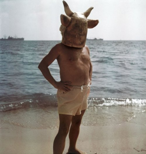Who's that weirdo wearing the bull mask on the beach? Well, it's Picasso, of course. On his birthday, we celebrate the Modernist master's career with a series of pictures by photographer Gjon Mili made over roughly two decades.
