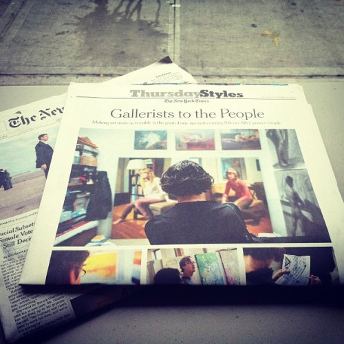 We're in The New York Times! http://nyti.ms/UHd50o We are so excited to share Artsicle's journey with everyone! It has been an amazing couple of years and we could not be here with out all of our support and, of course, our artists.