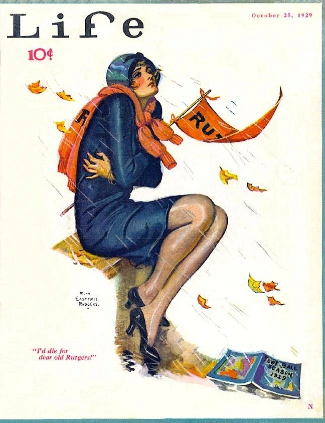 whataboutbobbed:  Ruth Eastman puts a chill in the air on the October 25, 1929 cover of Life