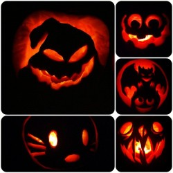 We carved pumpkins last night! 🎃👻😯☺😀😁😍 @doomteam @vf2000 @annie_manee @silentstealth