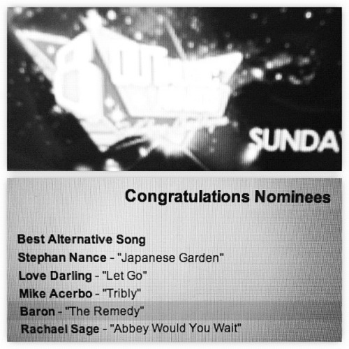 "@ArtistBaron's ""The Remedy"" nominated for Best Alternative Song for this year's OutMusic Awards!  Connect with him at damnitbaron.tumblr.com or artistbaron.com!"