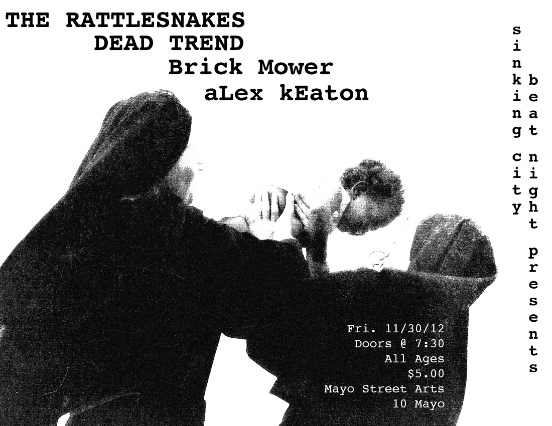 Portland: Dead Trend plays Mayo Arts Center 11/30 with the Rattlesnakes and New Jersey's Brick Mower.