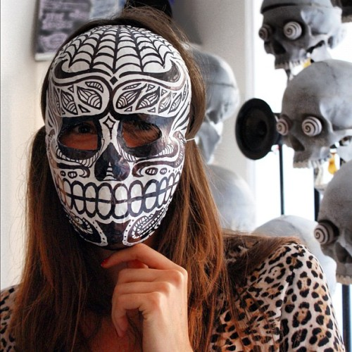 Getting ready for #halloween ! I love this A-MA-ZING mexican mask made by 2Shy for Pantheone. - amandinedotfr http://instagr.am/p/RNgmAWrc3F/