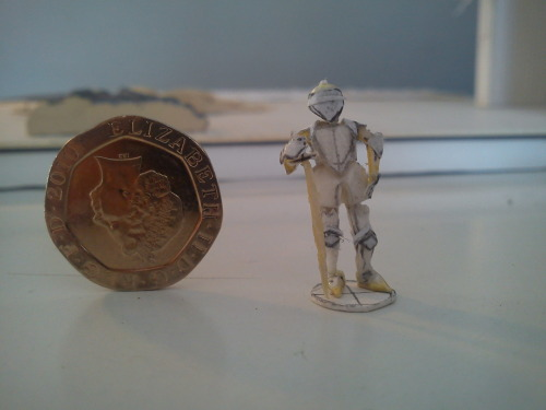 Just found this photo of a little guy I made a while ago… teeny tiny suit of armour!