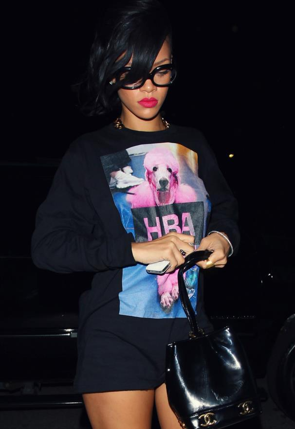 Bad Gal Riri in the Hood By Air Poodle Tee! Available exclusively at VFILES next week! Pre-order yours now: zachary@vfiles.com