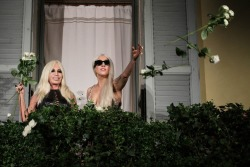 Donatella Versace and Lagy Gaga [UHQ]