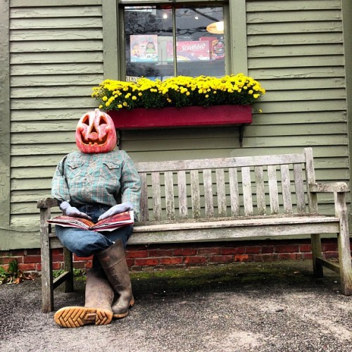 I LOVE #Halloween! #fall #mums #scarecrow #autumn #nwct #hunterboots #countryliving