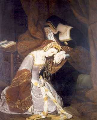 """Anne Boleyn in the Tower"", by Edouard Cibot, 1835"
