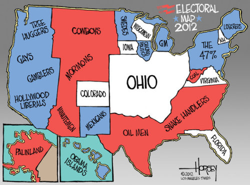 thenonprophet:  Electoral Map 2012