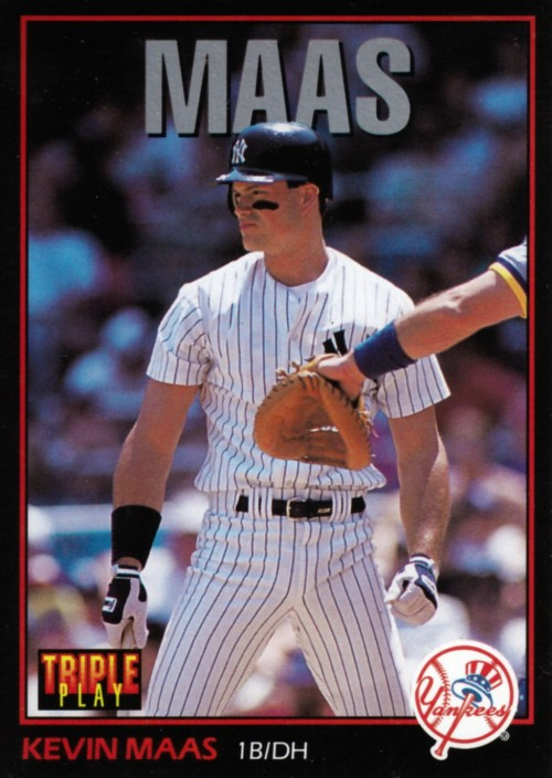 Random Baseball Card #2038: Kevin Mass, first baseman/designated hitter, New York Yankees, 1993, Leaf.