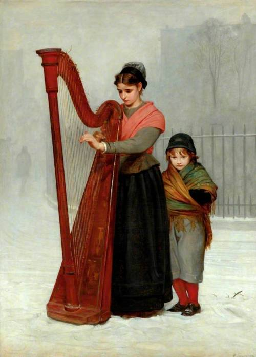 colourthysoul:  Philip Hermogenes Calderon - The Orphans (1870)