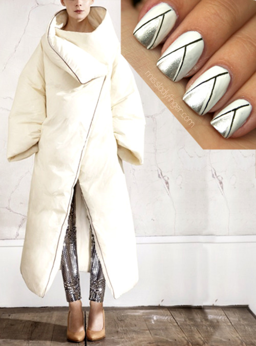 MANICURE MUSE: Maison Martin Margiela for H&M Fall shopping usually has me overwhelmed. The list of things I want always triples the list of things I actually need (isn't this true for most people?), but I can only hunt down the perfect Fall coat across the infinite internet and retail assortments for so long. I need some direction… something I know I can't resist or live without. Enter H&M's newest collaboration with Maison Martin Margiela. The 100 piece collection features the avant garde brand's most iconic looks and best selling pieces. What am I coveting? Namely the Trompe L'oeil bodysuit, the plexi heeled pumps, this structured duvet coat, and the 2-in-1 dress. This collection is sure to sell out in minutes, so come November 15th… get your game faces on people. Get a piece of the collection right now…