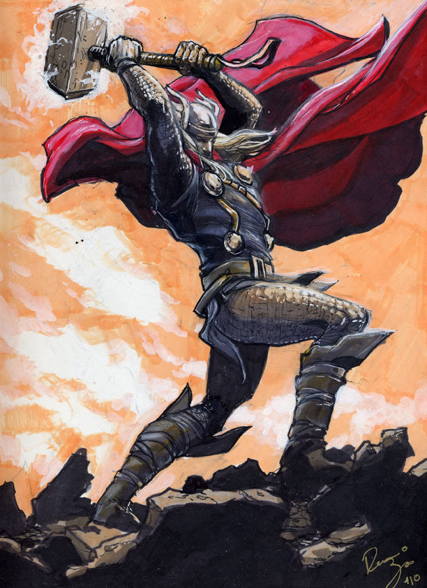lulubonanza:  Thor Color Sketch by ~RenaeDeLiz