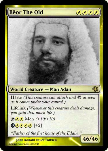 NEW CARD released: Bëor the Old http://quenya101.com/gallery/atani-edain-men/