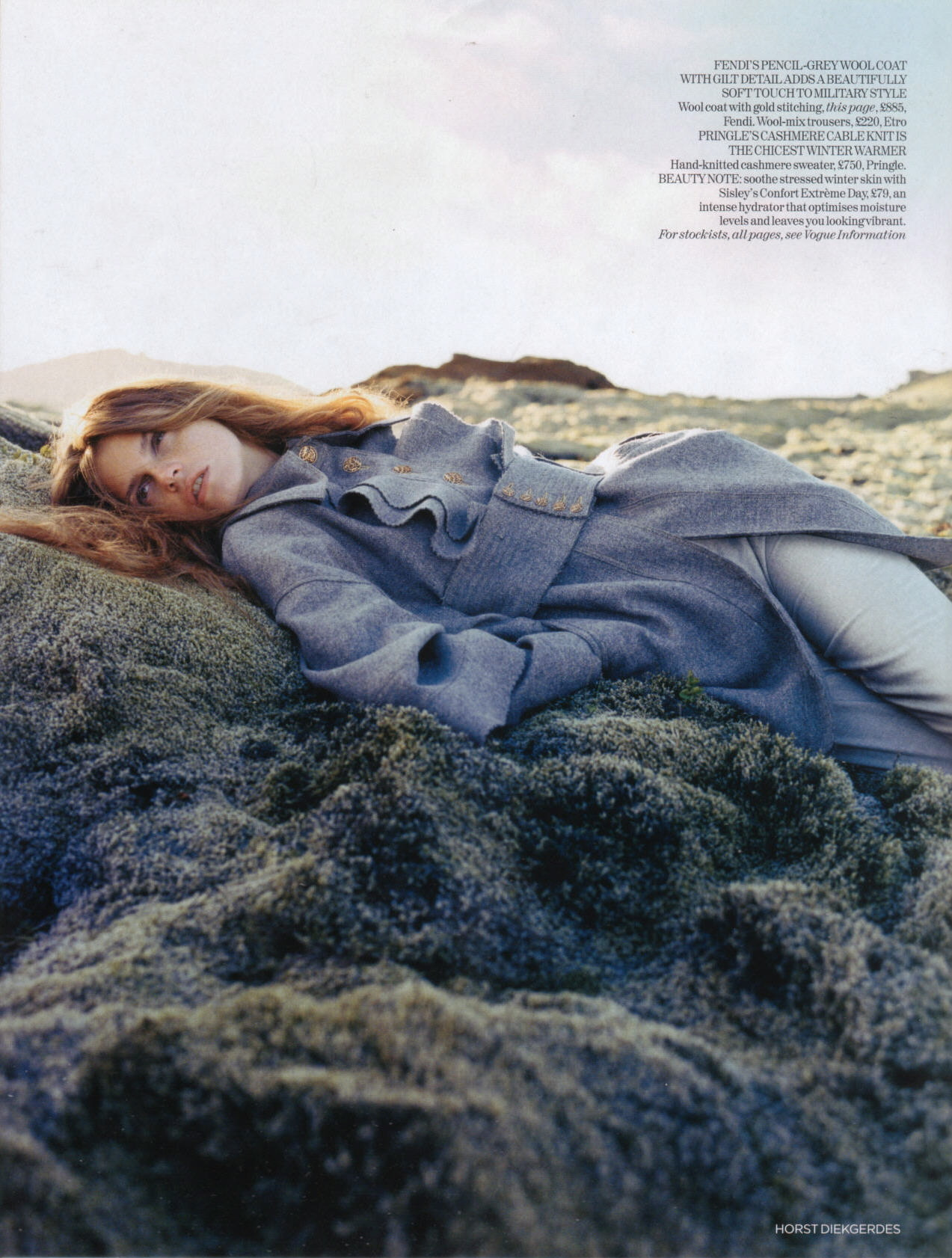 Vogue UK November 2006 Clean Slate by Horst Diekgerdes Model Jeisa Chiminazzo
