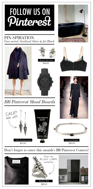 Our most MOOOOOODY mood board, dark and wintery - we are back into black - big time. More inspiration from the dark side here.