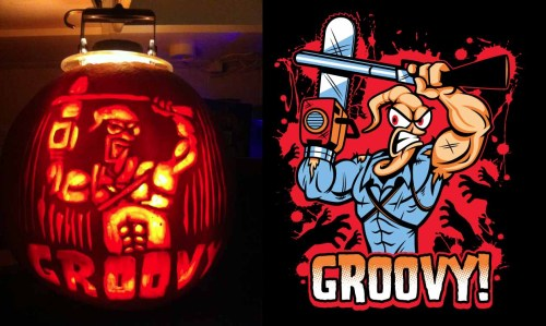 Somebody made a jack-o-lantern of my design Earthworm Ash!!!
