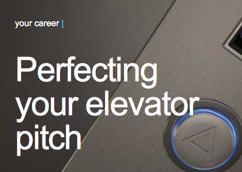 Perfecting Your Elevator Pitch