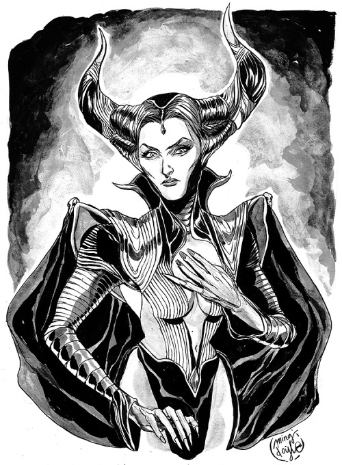 mingdoyle:  NYCC pre-commission: Maleficent!  ♡_♡