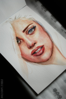 dollychops:  Gaga Watercolour (WIP)