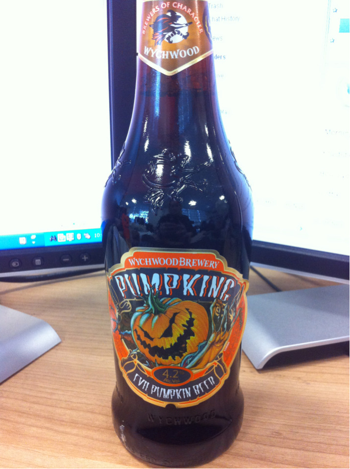 Pumpkin Beer turned up on my desk this morning - Looking forward to trying this! Thank you Charlie boy.