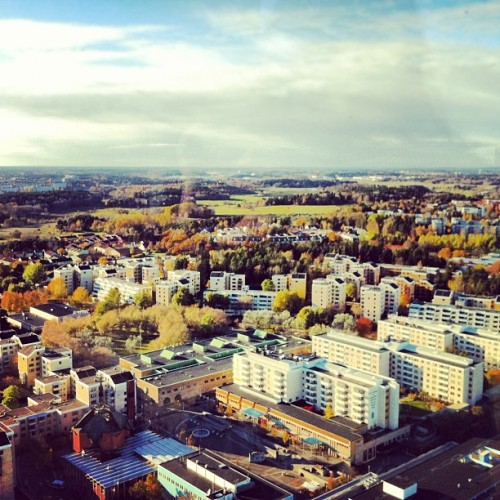 the view. #stockholm #sweden #kista #travel #rooftop  (at Kista Science Tower)