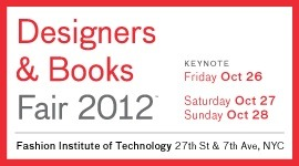 "This weekend marks the first Designers & Books Fair, an event ""at the intersection where design, architecture, and books meet."" If you're like us and think this sounds like a fabulous way to spend the weekend, then we've got some good news: the Designers & Books Fair is giving NYPL fans a special offer! Click here and enter the code NYPL to get free passes to the exhibition hall, and snag discounted program tickets here."