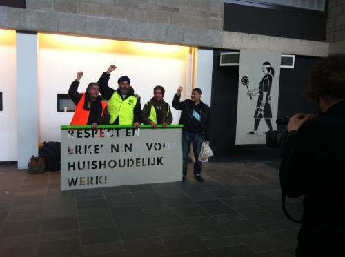 27 Feb 2012, Uithof, Utrecht Cleaner's Strike