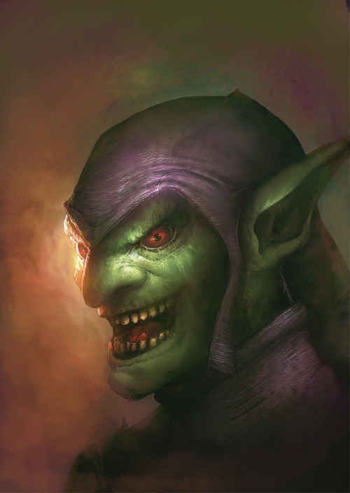 creaturesfromdreams:  Green Goblin by ~davebrush —-x—- More: | Marvel | Random |