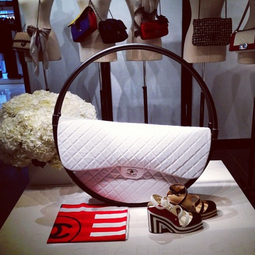The most buzzed about bag of the season: Chanel's hula hoop bag Photographed by Julia Rubin