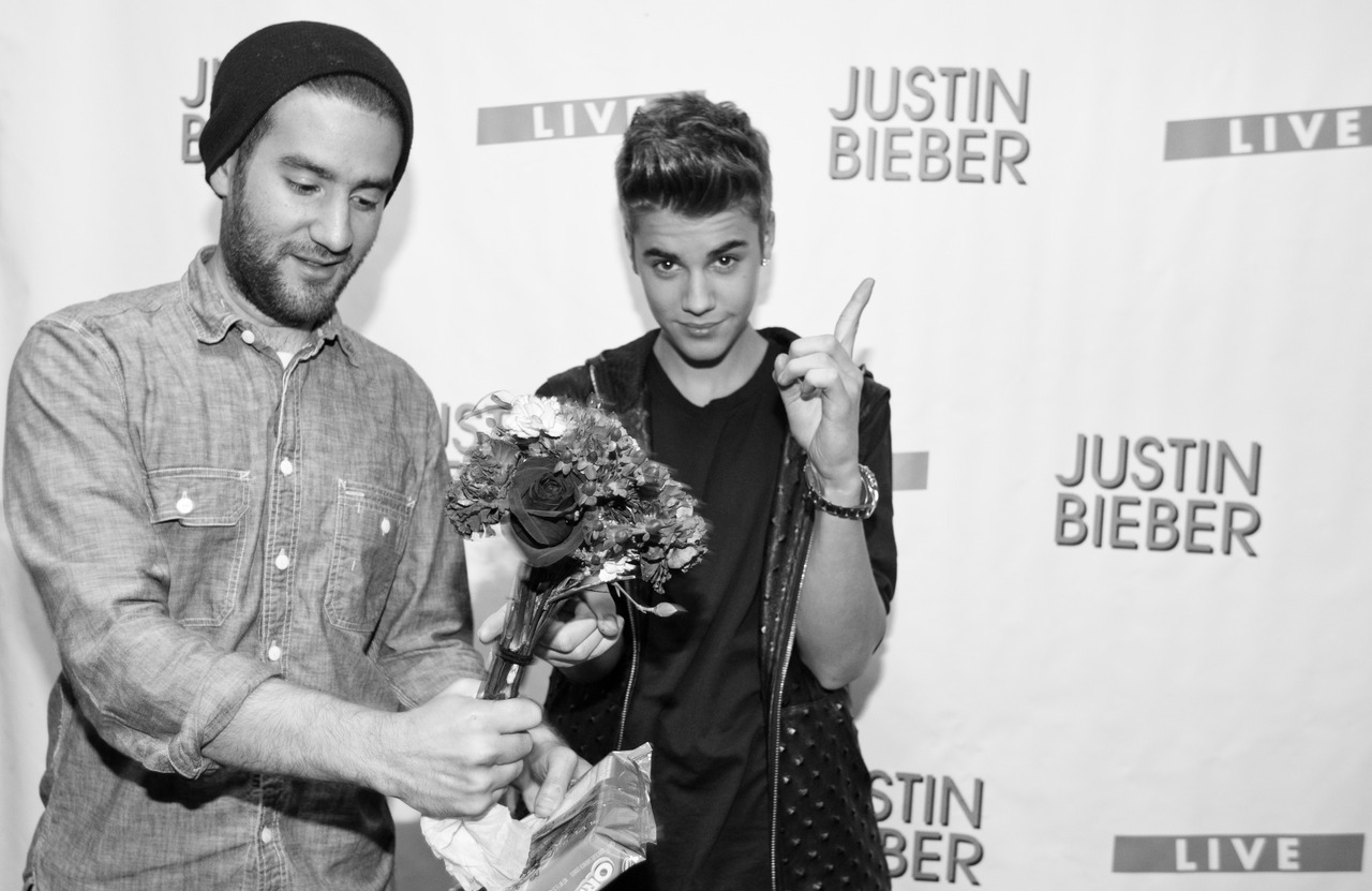 I gave Bieber flowers once. He threw them at my face and demanded sunflowers.