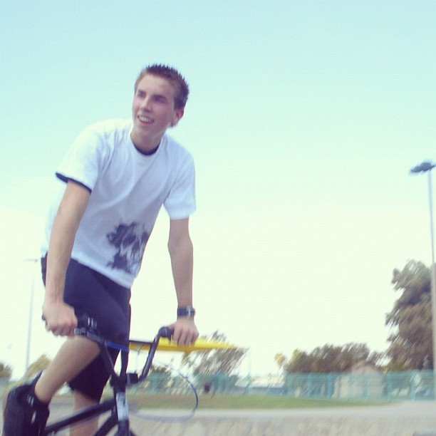#throwbackthrusday Riding in Mesa at Reed skatepark #bmx #reed #skatepark #mesa