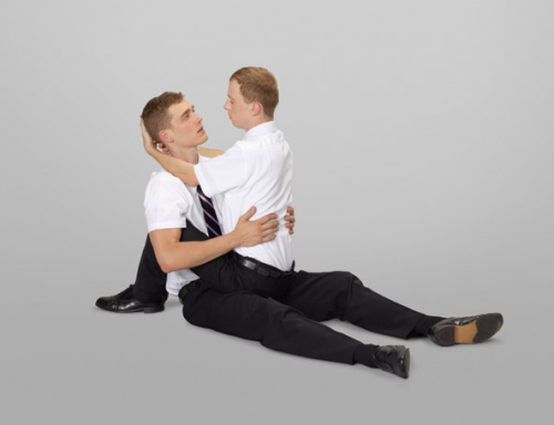 Online art exhibit Mormon Missionary Positions has nothing to do with that Romney guy, nope.