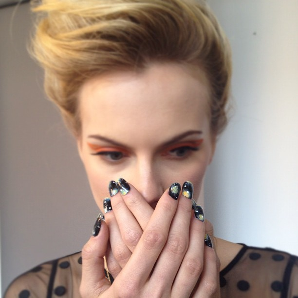 Had an @mpnails galaxy reference for the shoot today, was hard to do them justice!