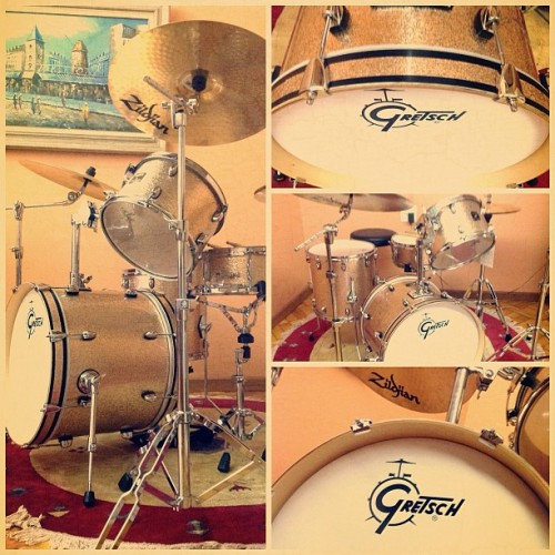 God gave you music! #gretsch #jazz #music #drums #vintage #copper #sparkle #zildjian #cymbals #latergram