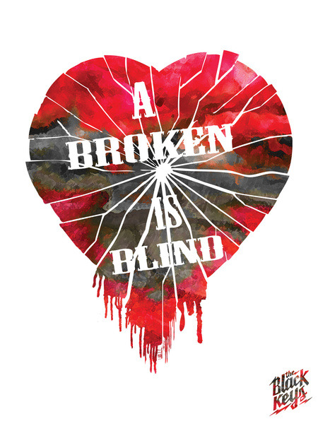 A Broken Heart is Blind Print Now Available on Society6.com