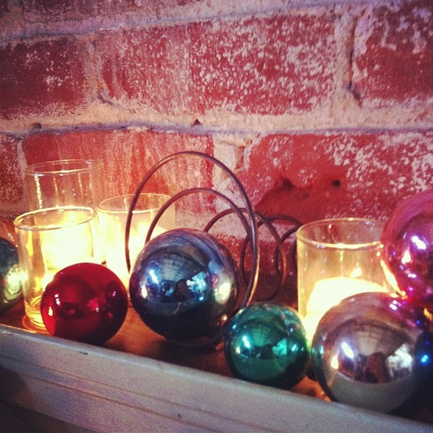 Candles and baubles