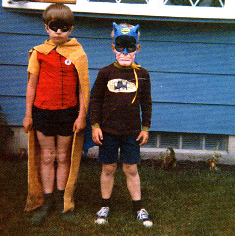 gravesandghouls:  1960's Halloween costumes  That chin is ungodly creepy on a kid D: