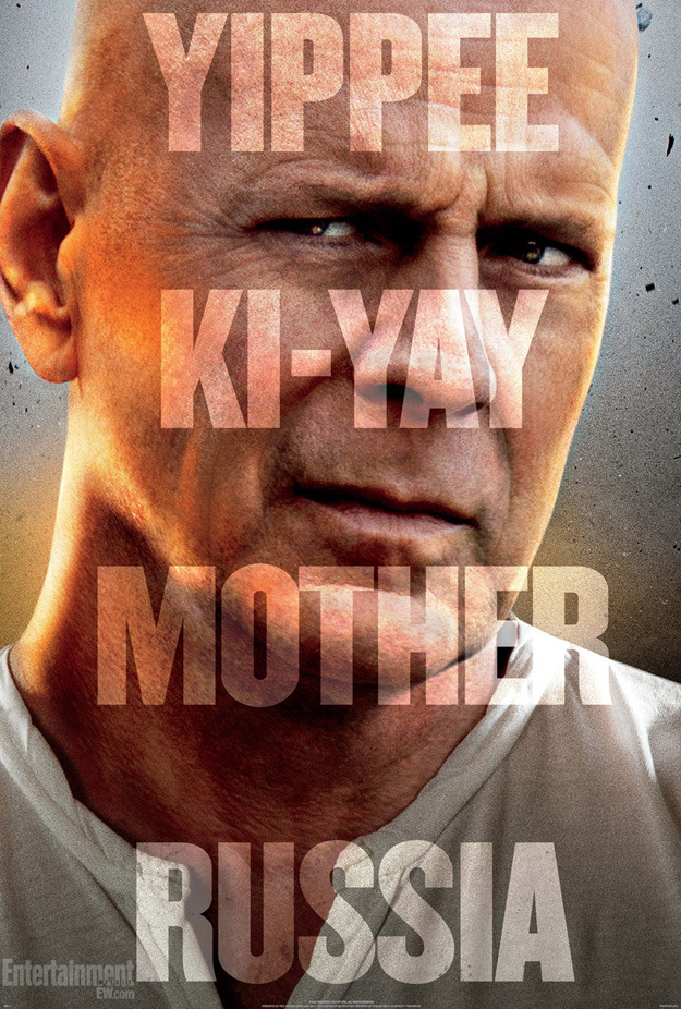 movievore:  WELCOME TO MOSCOW!! A Good Day to Die Hard. Brand new poster (awesome) and trailer (awesome)   the poster's just alright, but the trailer i can get behind. watch that shit. now.