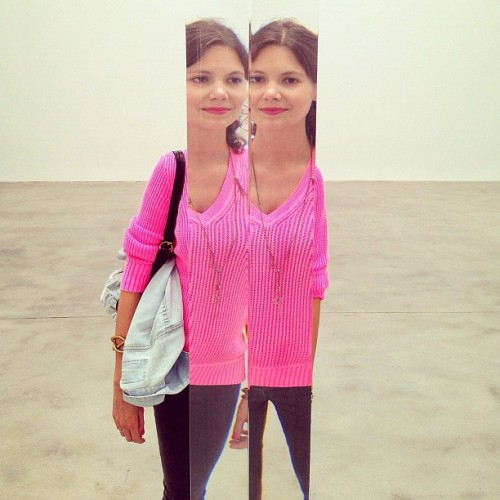 the sublime @kateh325 chopped n' doubled at @pacegallery, by @softcircle #robertirwin #art